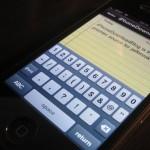 gestire note iphone