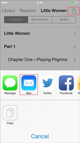inviare pdf via email su iphone