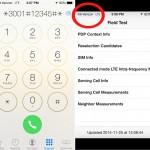 Verifica la copertura della rete su iPhone con Field Test