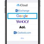 Configurare account Google su iPhone