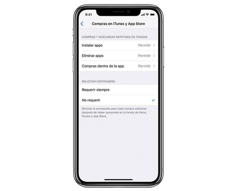 impedire la richiesta di acquisti di Apple Store